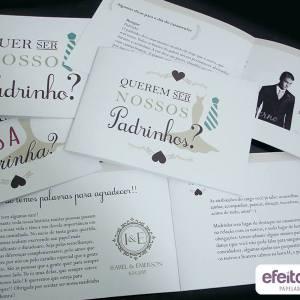 Convite Padrinhos Livrinho