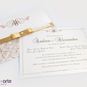 Convite Versalhes grande | Ândrea & Alexandre