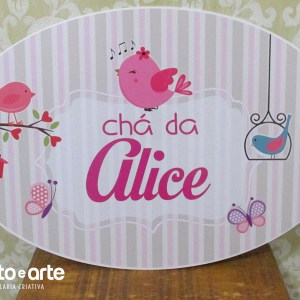 Painel decorativo oval | Chá da Alice