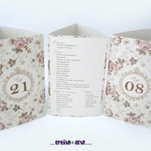 Tótens em papel reciclado 3 lados   Aline & Michel