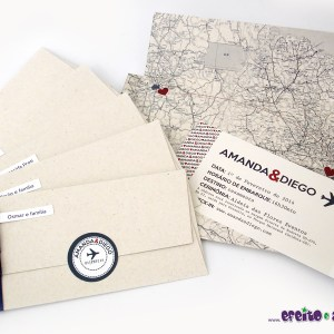 Convite Barcelona / Passagem | Amanda & Diego