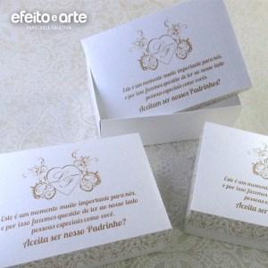 Caixinhas para convite aos padrinhos | Ledyane & Fredi