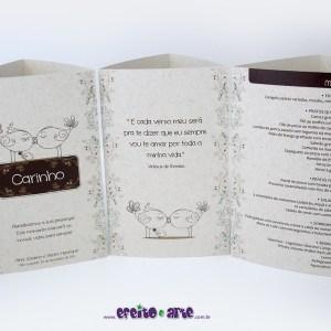 Tótens em papel reciclado 3 lados   Ana & Saverio + Pietro Henrique