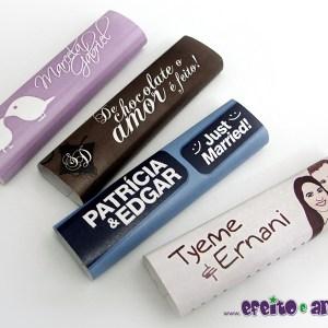 Rótulos para chocolates personalizados