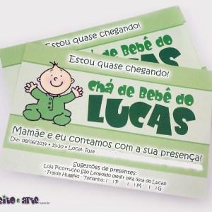 Convite 10x15cm | Chá de Bebê do Lucas