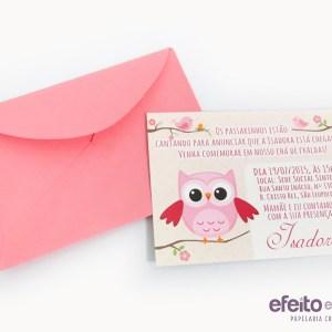 Convite 7x10cm | Chá da Isadora