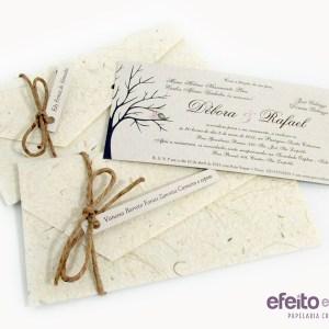 Convite rústico | Débora & Rafael