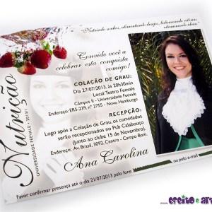 Convite 10x15cm em papel fotográfico | Nutrição