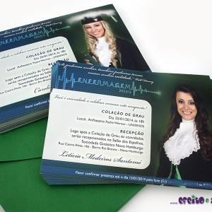 Convite 10x15cm em papel fotográfico | Enfermagem
