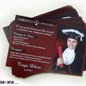 Convite 10x15cm em papel fotográfico | Direito