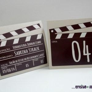 Numeradores de mesa 10x10cm em papel reciclado| Jornalismo