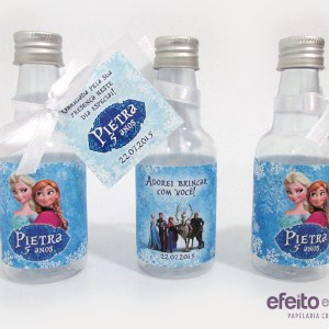 Garrafinha plástica com tag | Frozen