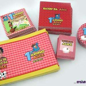 Tags + Rótulos Baton, Bolha de Sabão, Tic-Tac e redondos | Galinha Pintadinha