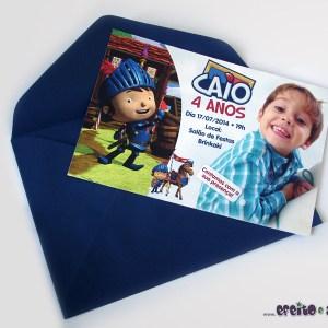 Convite 10x15cm com envelope | Mike Cavaleiro