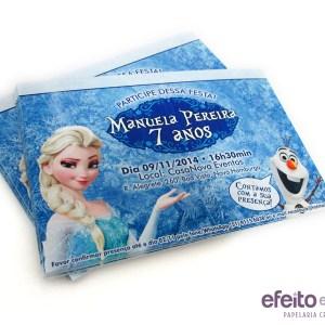 Convite Tradicional 10x15cm| Frozen