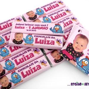 Chocolate Refeição + tag 5x5cm com furo | Galinha Pintadinha