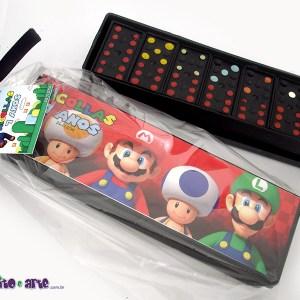 Dominó com embalagem e tag personalizada | Super Mario Bros