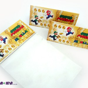 Rótulo para saquinho de balas | Super Mario