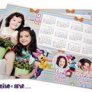 Ímã 13x18cm | Com calendário | Minnie
