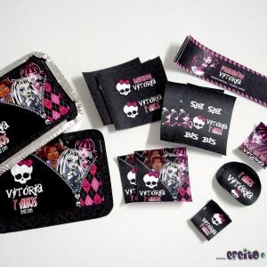 Marmitinhas + rótulos diversos | Monster High