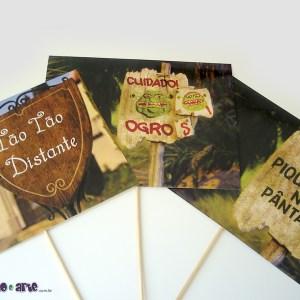 Plaquinhas decorativas com palito | Shrek