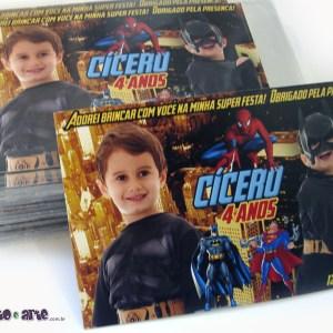 Ímã 7x10cm | Batman, Super Homem, Homem-Aranha