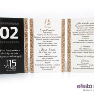 Tótens menu e número de mesa