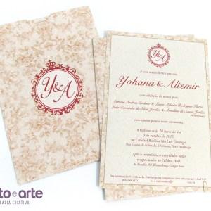Convite Paris versão Eco | Yohana & Altemir