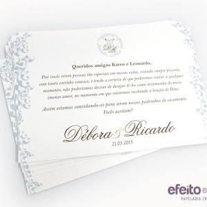 Convite padrinhos | Débora & Ricardo