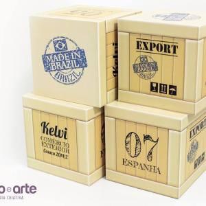 Cubos exportação para identificação das mesas | Comércio Exterior