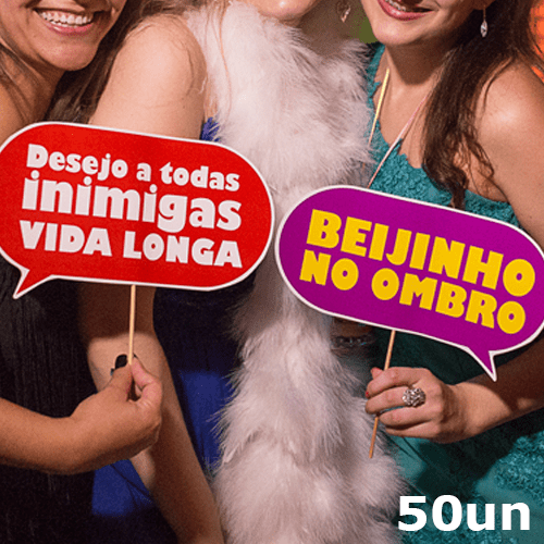 Plaquinhas divertidas – 50un