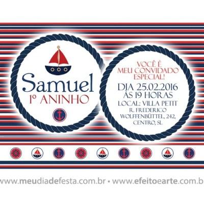 Convite Samuel - 1 aninho
