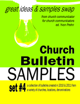 Church Bulletin Book 4