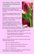 Mothers day bulletin insert to check out Christian faith