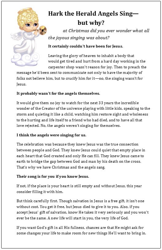 Templates for Bulletin Insert Size created for \u201cHark the Herald
