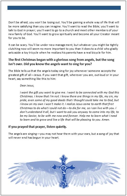 FREE Christmas Templates for outreach, congregational motivation