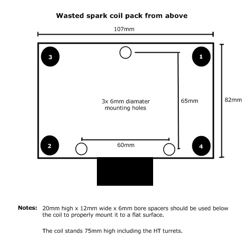 Wasted spark coil pack with built in ignitors - EFI-Partsuk