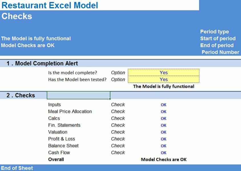 Startup Restaurant Financial Model Template eFinancialModels