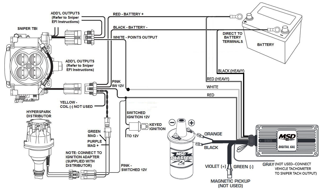 Demystifying Holley Terminator And Sniper Ignition Hookup - msd blaster 2 wiring diagram