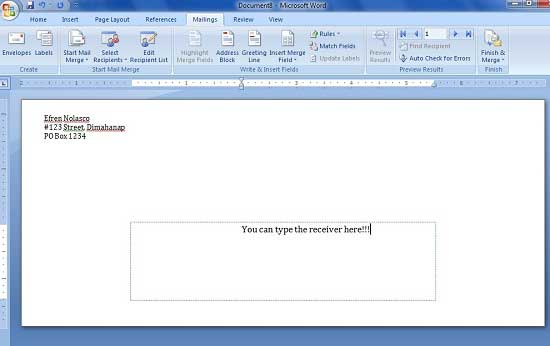 How To Print Names And Address To Envelope Using Microsoft