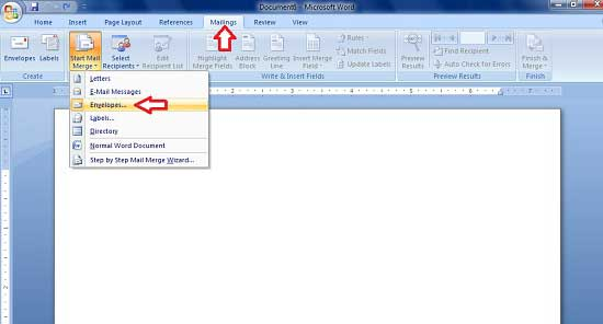 How to Print Names and Address to Envelope using Microsoft Word