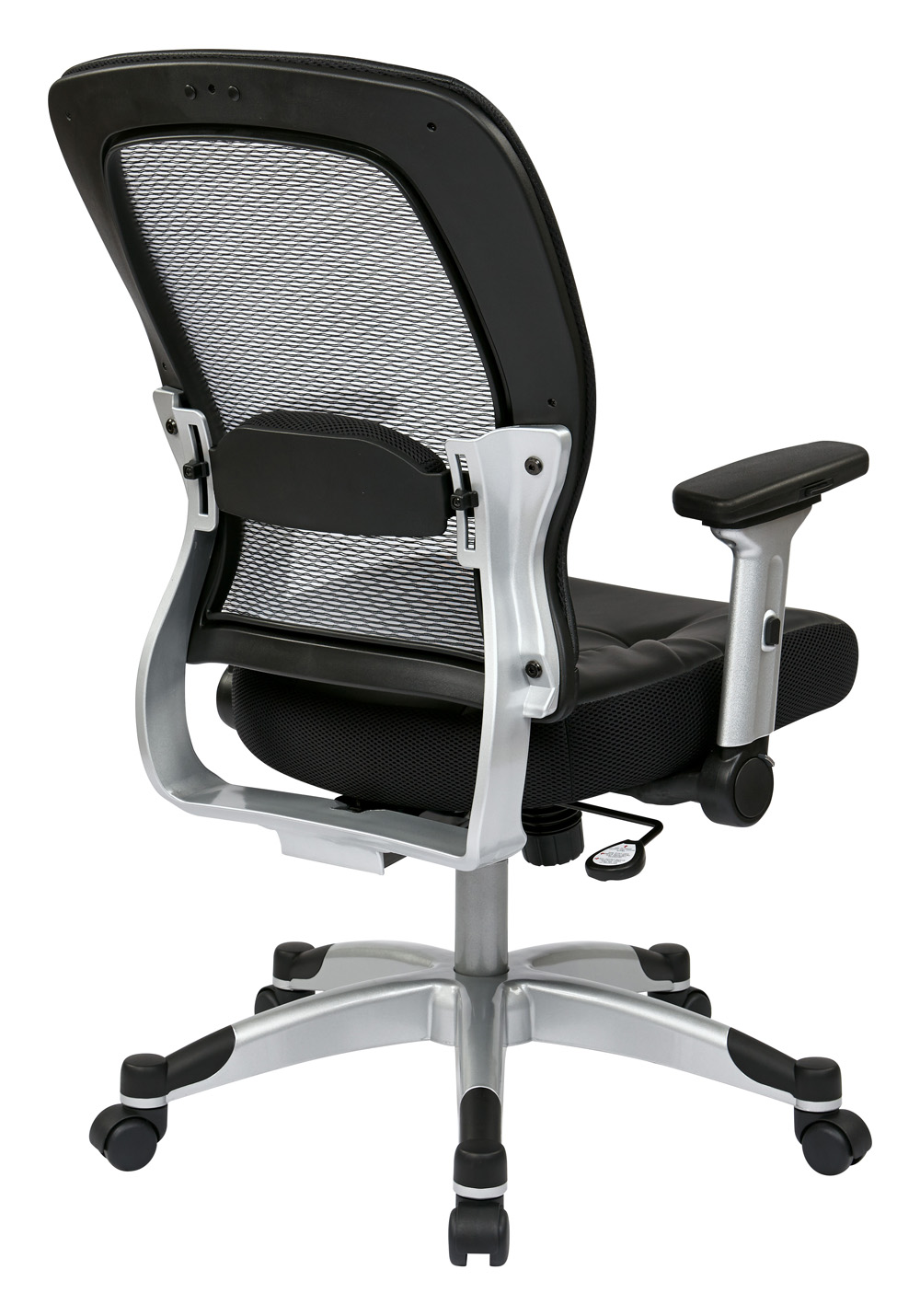 Office Star Professional Air Grid Deluxe Task Chair office star deluxe armless wood bankers desk chair with wood seat