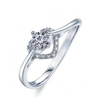CZ Heart Shape Promise Rings for Girlfriend - Egifts2u.com