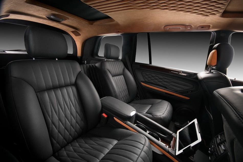 Vilner mercedes benz gl rear captain seats with apple ipad