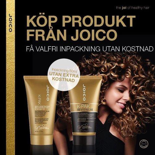 Liten inpackning på köpet när du köper valfri produkt från JOICO!