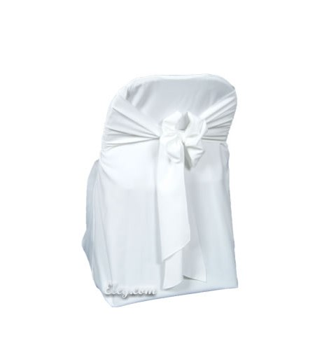 White Poly Folding Chair Cover Egpres
