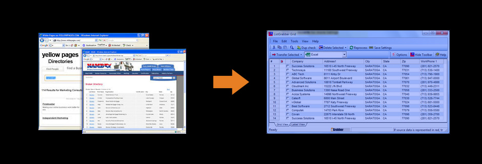 Extract Business Contact List Lead Generation Software Yellow