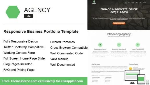 Responsive Enterprise Portfolio Template Constructed Utilizing