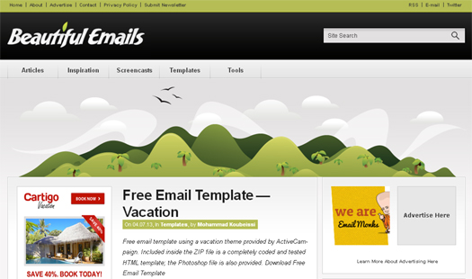 100+ Free Responsive HTML E mail / E-newsletter Templates EGrappler