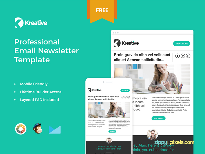 9 Free Responsive E-mail Templates EGrappler